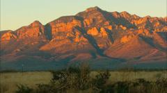Sunrise Desert Mountain Stock Footage