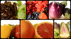 Fruit and vegetables Stock Footage