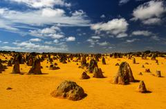 pinnacles desert, australia - stock photo