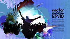Music club background for disco dance international event Stock Illustration