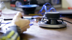 Soldering ends of wires - stock footage