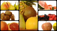 Fruit collage Stock Footage
