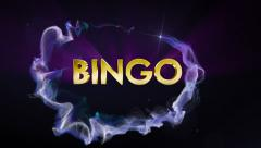 BINGO Gold Text in Particles, Fast Stock Footage