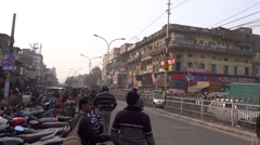 Chandni chowk market in front of Red Fort Stock Footage