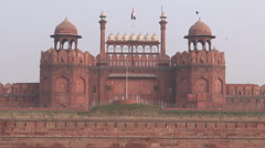 Red Fort also known as Lal Qil'ah, UNESCO World Heritage Site, Delhi Stock Footage