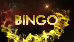 BINGO Gold Text in Particles Stock Footage