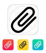 Stock Illustration of Attachment (Paper clip) icon.