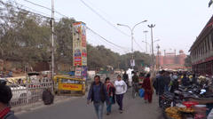 Famous Chandni chowk market, delhi, india Stock Footage