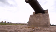 Stock Video Footage of Acre fortress cannon 0411 4
