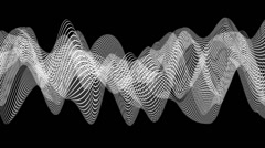 Lines on curved surfaces. Stock Footage