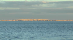 The Vasco da Gama Bridge, Parque das Nacoes, Lisbon, Portugal. Stock Footage