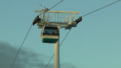 Cable car, Parque das Nacoes, Lisbon, Portugal. Stock Footage