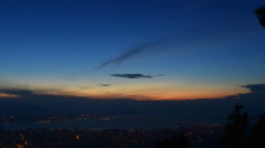 City view of Georgetown from Penang Hill Stock Footage