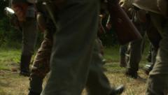 Germans marching boots 2 Stock Footage