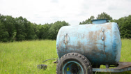 Stock Video Footage of water tank pasture