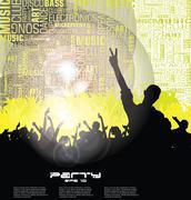 Music event background Stock Illustration