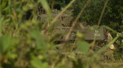 American Stuart tank attacks Stock Footage