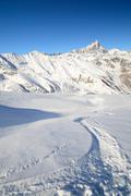 Winter adventures in the alps Stock Photos