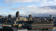 Birmingham, England city skyline. Stock Footage