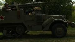 Russian half track 3 Stock Footage