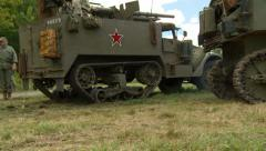 Russian half track 1 - stock footage