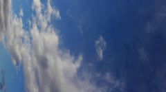 Speeded up clouds - vertical format. Stock Footage