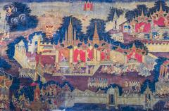 Thai mural painting Stock Photos