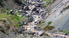 0905 Small mountain river  - stock footage