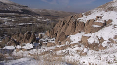 Iran, overview of 'Kandovan', a village built out of troglodyte formations Stock Footage