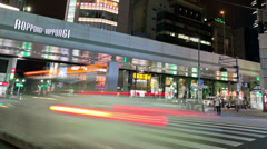 Roppongi Timelapse in Tokyo, Japan Stock Footage