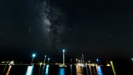 Stock Video Footage of Milky Way timelapse with sailboats
