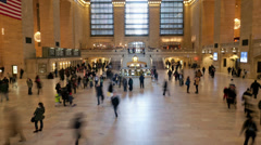 Time Lapse in Grand Central Station, New York - stock footage