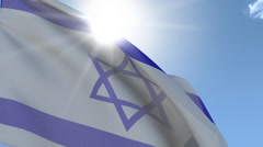 Flag Of Israel Stock Footage