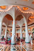 Hall of the atlantis hotel in dubai, uae Stock Photos
