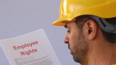 Employee rights 2 Stock Footage