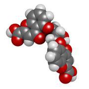 Cromoglicic acid (cromolyn, cromoglycate) asthma and allergy drug, chemical s Stock Illustration