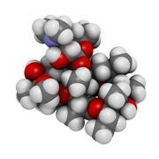 Stock Illustration of erythromycin antibiotic drug (macrolide class), chemical structure