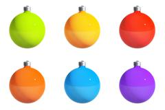 Christmas balls with path Stock Illustration