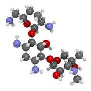 Stock Illustration of gentamicin antibiotic drug (aminoglycoside class), chemical structure.