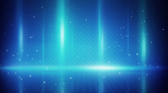 Blue light stripes and particles loopable background Stock Footage