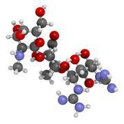 streptomycin antibiotic drug (aminoglycoside class), chemical structure. - stock illustration