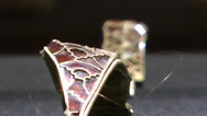 Stock Video Footage of Staffordshire Hoard Gold and Red Garnet