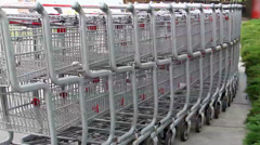 Shopping cart Round-up Stock Footage