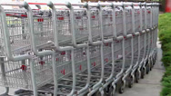 Stock Video Footage of Shopping cart Round-up