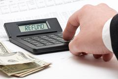 tax refund calculation - stock photo