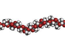 Polylactic acid (pla, polylactide) bioplastic, chemical structure - linear fr Stock Illustration