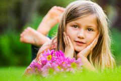 cute happy little girl - stock photo