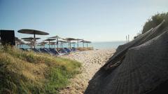Beach on Halkidiki, Greece Stock Footage