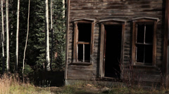 Scary Abandoned House Ghost Town Horror 4 Stock Footage