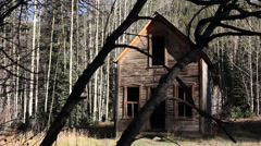 Scary Abandoned House Ghost Town Horror Stock Footage